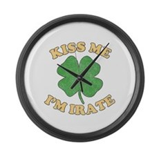 Kiss Me I'm Irate Large Wall Clock