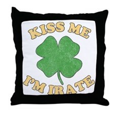 Kiss Me I'm Irate Throw Pillow