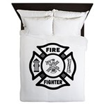 Firefighter Blanket Duvet Queen Size
