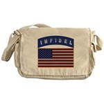 American Infidel Patch Messenger Bag