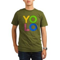 YOLO Organic Mens Dark T-Shirt