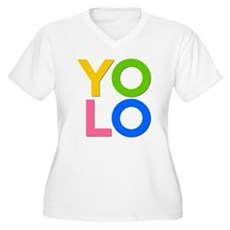 YOLO Plus Size V-Neck Shirt