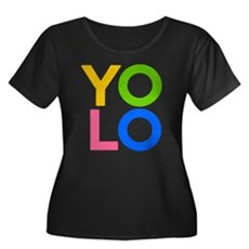 YOLO Plus Size Scoop Neck Shirt
