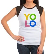 YOLO Womens Cap Sleeve T-Shirt