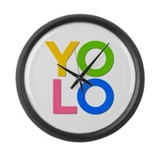YOLO Large Wall Clock
