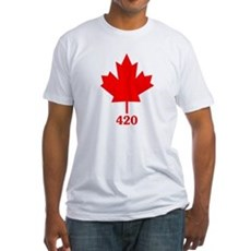 Canada 420 Fitted T-Shirt