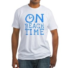 On Beach Time Fitted T-Shirt