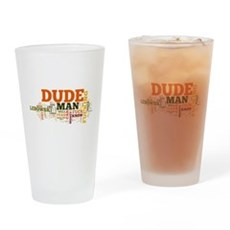 The Big Lebowski Word Cloud Drinking Glass