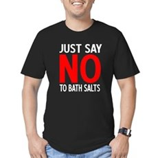 Say No to Bath Salts Mens Fitted Dark T-Shirt