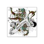 Anderson Tartan Lion Square Sticker 3