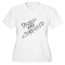 Dazed and Confused Womens Plus Size V-Neck T-Shir