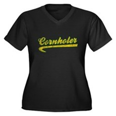 Cornholer Plus Size V-Neck Shirt