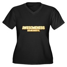 Awesomeness Plus Size V-Neck Shirt