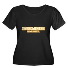 Awesomeness Womens Plus Size Scoop Neck Dark T-Sh