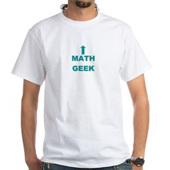 Math Geek White T-Shirt