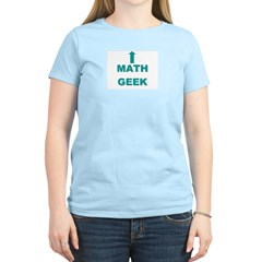 Math Geek Women's Pink T-Shirt