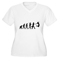 Evolution of Freedom Womens Plus Size V-Neck T-Sh