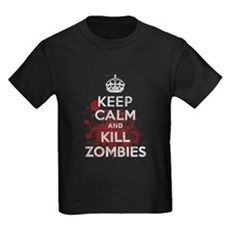 Keep Calm and Kill Zombies Kids T-Shirt