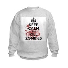 Keep Calm and Kill Zombies Kids Sweatshirt