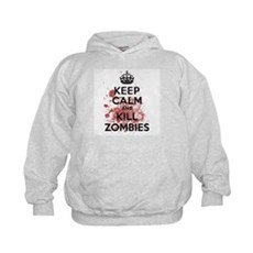 Keep Calm and Kill Zombies Kids Hoodie