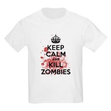 Keep Calm and Kill Zombies Kids Light T-Shirt