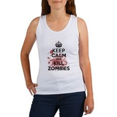 Keep Calm and Kill Zombies Womens Tank Top