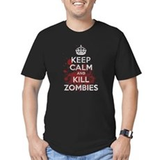Keep Calm and Kill Zombies Mens Fitted Dark T-Shirt