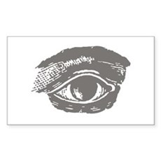 All Seeing Eye Rectangle Sticker