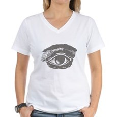 All Seeing Eye Womens V-Neck T-Shirt