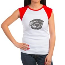 All Seeing Eye Womens Cap Sleeve T-Shirt