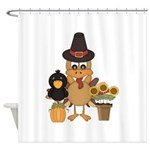 Thanksgiving Decorations Shower Curtains