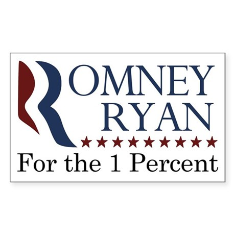 Romney/Ryan for the 1% (Anti-Romney Car Magnet)