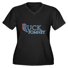 Ruck Fomney Plus Size V-Neck Shirt