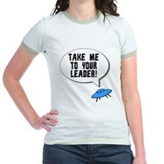 Take Me To Your Leader Jr Ringer T-Shirt