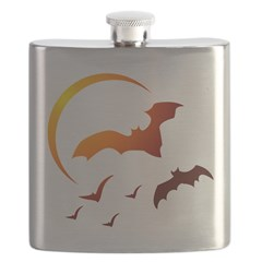 Flying Vampire Bats Flask