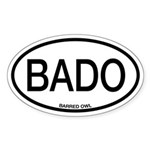 BADO Barred Owl Alpha Code Sticker (Oval)