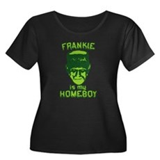 Frankie Is My Homeboy Womens Plus Size Scoop Neck