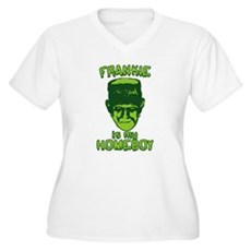Frankie Is My Homeboy Womens Plus Size V-Neck T-S
