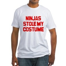 Ninjas Stole My Costume Fitted T-Shirt