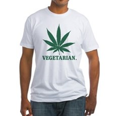 Vegetarian Cannabis Fitted T-Shirt