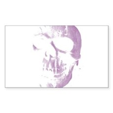 Purple Skull Rectangle Sticker