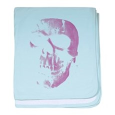 Purple Skull baby blanket