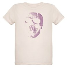 Purple Skull Organic Kids T-Shirt