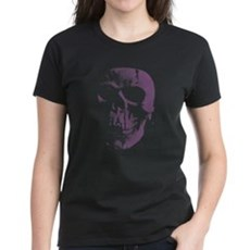 Purple Skull Womens T-Shirt