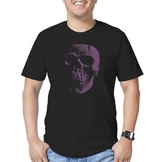 Purple Skull Mens Fitted Dark T-Shirt