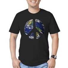 World Peace Mens Fitted Dark T-Shirt