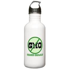 Say No to GMO Stainless Water Bottle 1 Liter