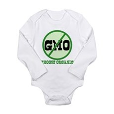 Say No to GMO Long Sleeve Infant Bodysuit