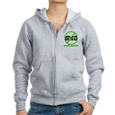 Say No to GMO Womens Zip Hoodie