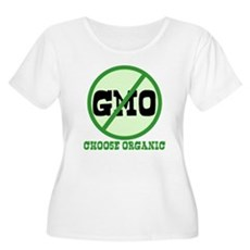 Say No to GMO Plus Size Scoop Neck Shirt